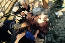rocketkachel bouwen, Jaaropleiding Zwolle