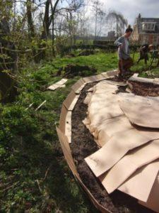 mulch permacultuur moestuin workshop mulchen met karton